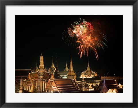 Framed Emerald Palace During Commemoration of King Bumiphol's 50th Anniversary, Thailand Print