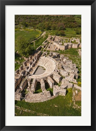 Framed Aerial view of Aphrodisias, Aydin, Turkey Print