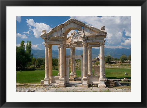 Framed Roman Archaeological Site, Aphrodisias, Turkey Print