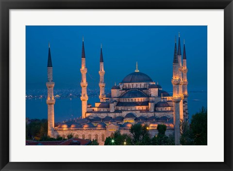 Framed Blue Mosque, Istanbul, Turkey Print