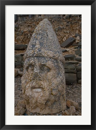 Framed Head Statues, Mount Nemrut, Turkey Print