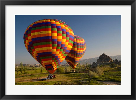 Framed Turkey in Cappadocia and hot air ballooning Print