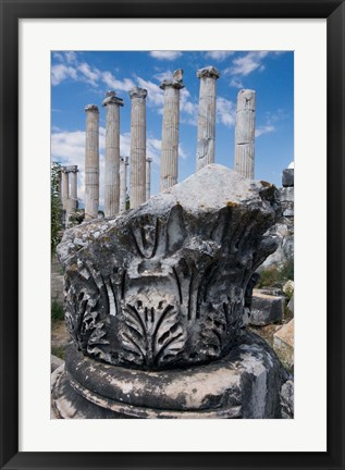 Framed Columns and Relief Sculpture, Aphrodisias, Turkey Print