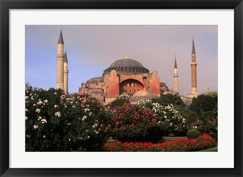Framed Saint Sophia Church, Hagai Sophia, Istanbul, Turkey Print