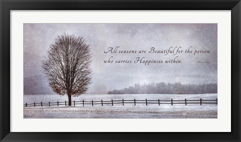 Framed Happiness Within Print