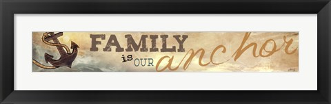 Framed Family is Our Anchor Print