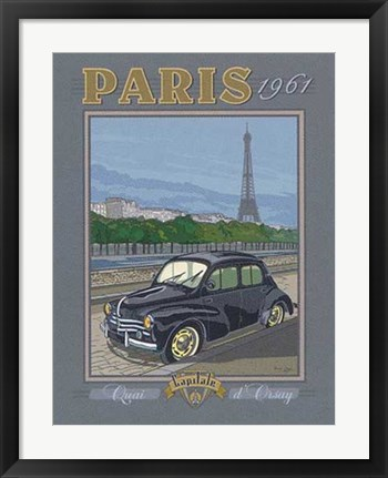 Framed Paris 1961, 4CV Print