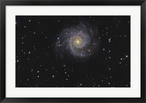 Framed Messier 74, A Spiral Galaxy in the Constellation Pisces Print