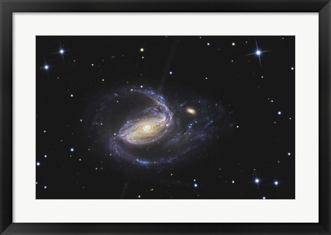 Framed NGC 1097, Barred Spiral Galaxy in the Constellation Fornax Print