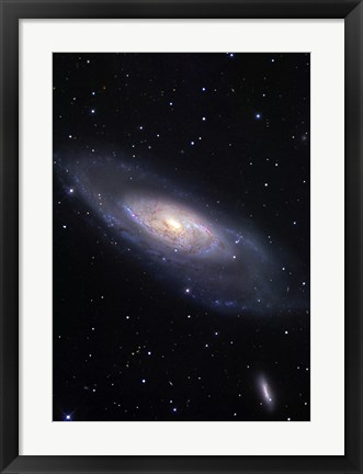 Framed Messier 106, A Spiral Galaxy in the Constellation Canes Venatici Print