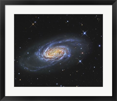 Framed NGC 2903, A Barred Spiral Galaxy in the Constellation of Leo Print