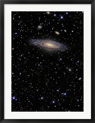 Framed NGC 7331, A Spiral Galaxy in the Constellation Pegasus Print