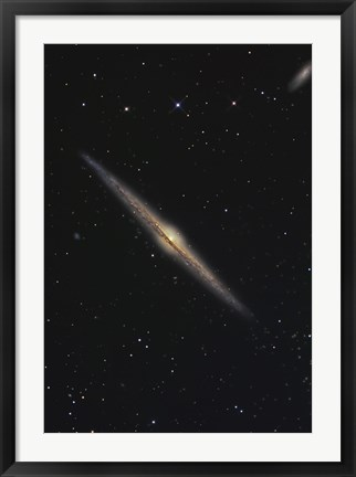 Framed NGC 4565, Barred Spiral Galaxy in the Constellation Coma Berenices Print