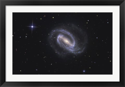 Framed NGC 1300, Barred Spiral Galaxy in the Constellation Eridanus Print