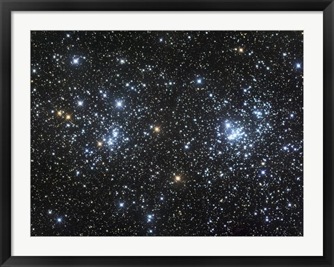 Framed Double Cluster, NGC 884 and NGC 869 Print
