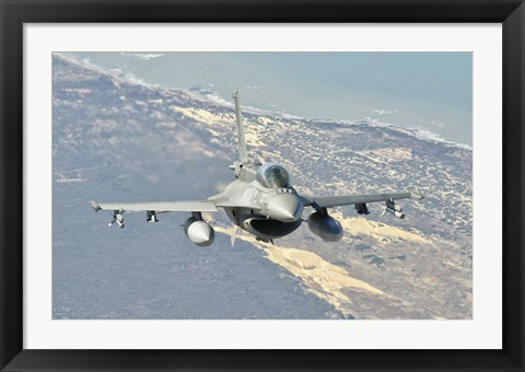 Framed Chilean Air Force F-6D Block 50 over Brazil Print