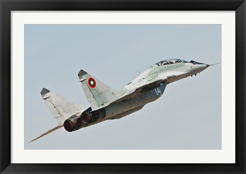 Framed MIG-29 of the Bulgarian Air Force Print