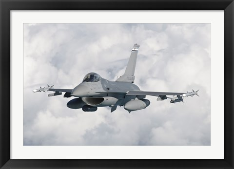 Framed F-16 from the Colorado Air National Guard in flight over Brazil Print
