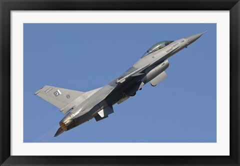 Framed F-16 of the Pakistan Air Force Print
