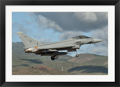 Framed Eurofighter Typhoon of the Spanish Air Force Print