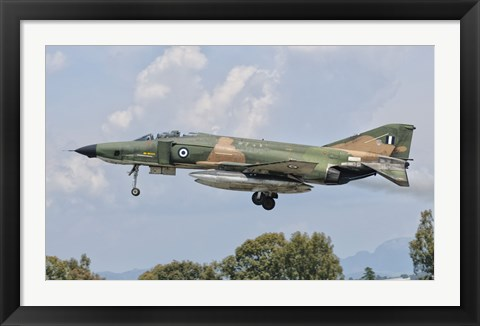 Framed F-4 Phantom of the Hellenic Air Force Print