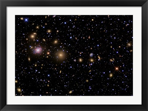 Framed Perseus Galaxy Cluster Print