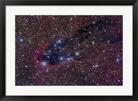 Framed Dark Tower, Cometary Globule in Scorpius Print