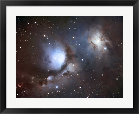 Framed Messier 78, A Reflection Nebula in the Constellation Orion Print