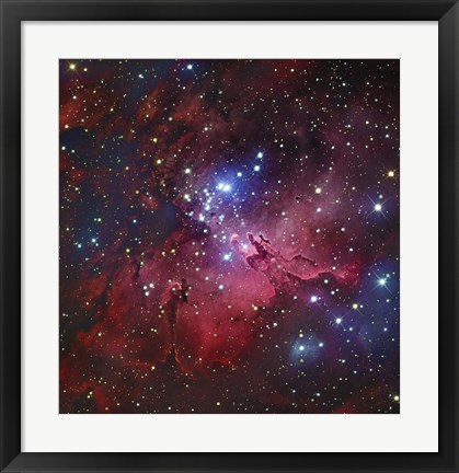 Framed Messier 16, The Eagle Nebula in Serpens Print