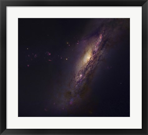 Framed Polar Ring Galaxy in Pisces Print