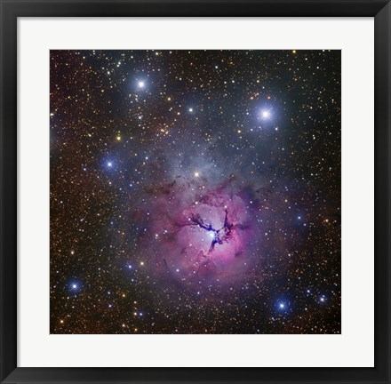 Framed Trifid Nebula located in Sagittarius Print