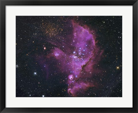 Framed Open Cluster and Nebula Complex in the Small Magellanic Cloud Print