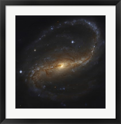 Framed Barred Spiral Galaxy in the Constellation Pegasus Print