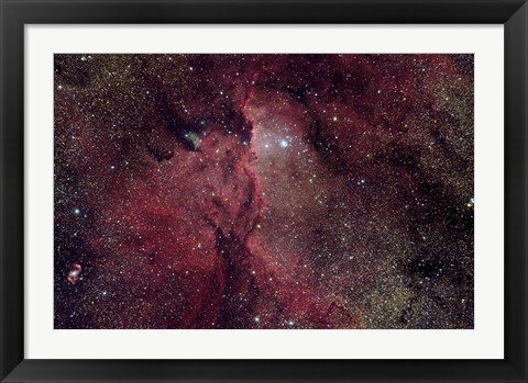 Framed Emission Nebula in Ara (NGC 6188) Print