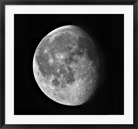 Framed Waning Moon Print