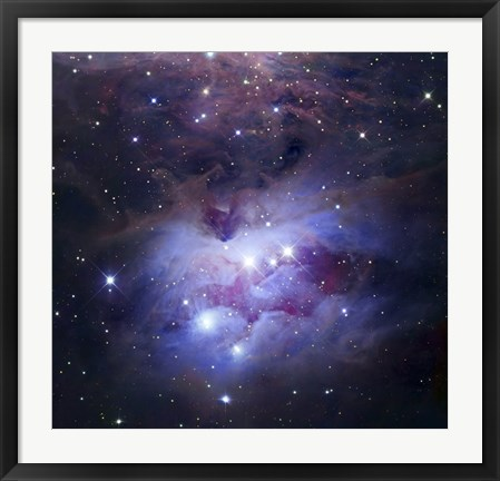 Framed Reflection Nebula Northeast of the Orion Nebula Print