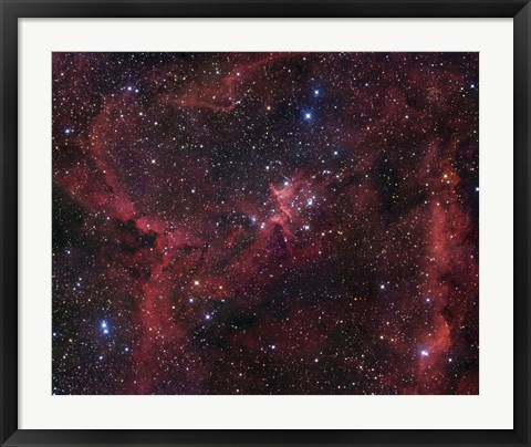Framed Cassiopeia (NGC 7380) Print