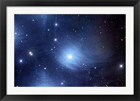 Framed Merope Nebulosity and IC 349 Print
