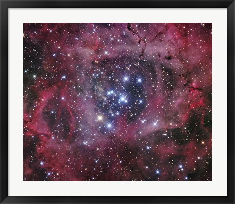 Framed Open Cluster within the Rosette Nebula (NGC 2244) Print