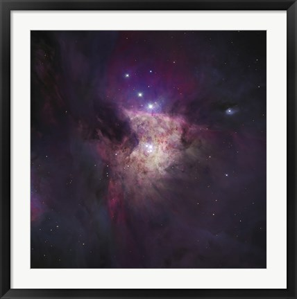 Framed Center of the Orion Nebula (The Trapezium Cluster) Print