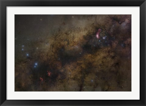 Framed Galactic Center of the Milky Way Galaxy Print