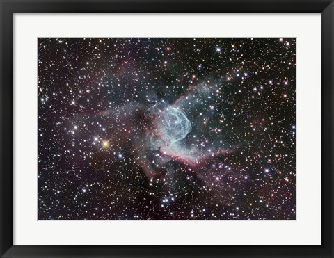 Framed Thor's Helmet in Canis Major Print