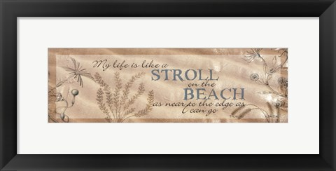 Framed Stroll on the Beach Print