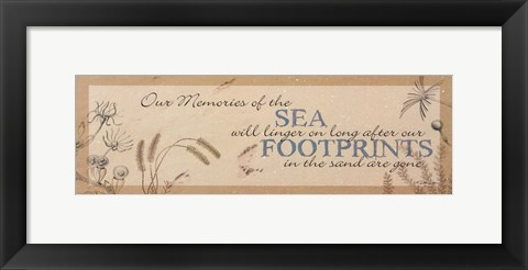 Framed Footprints in the Sand Print