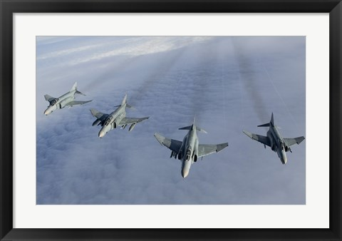 Framed Formation of Luftwaffe F-4F Phantom II's Print