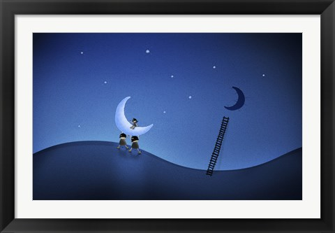 Framed Stealing the Moon Print