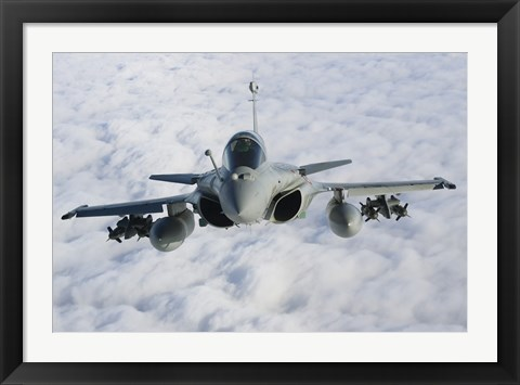 Framed Dassault Rafale B of the French Air Force (front view) Print