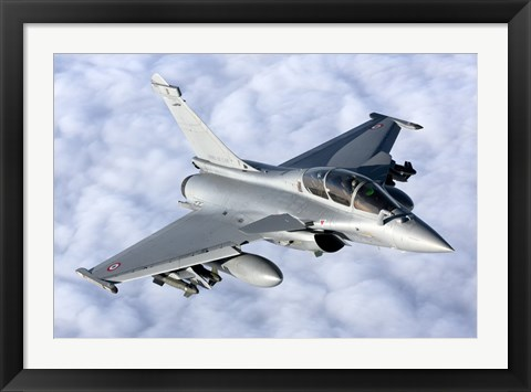 Framed Dassault Rafale B of the French Air Force Print