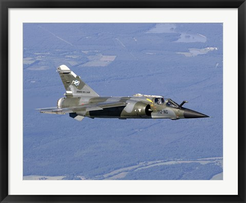Framed Mirage F1CR of the French Air Force over France Print