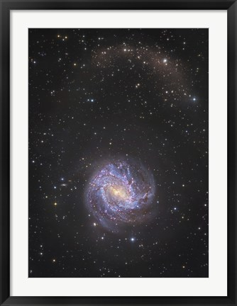 Framed Messier 83 and its Northern Stellar Tidal Stream Print